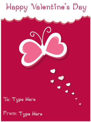 Free Valentine's Day Mini Card Templates | Certificate Street ...